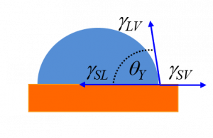 Schematic illustration of parameters involved in defining Young's law
